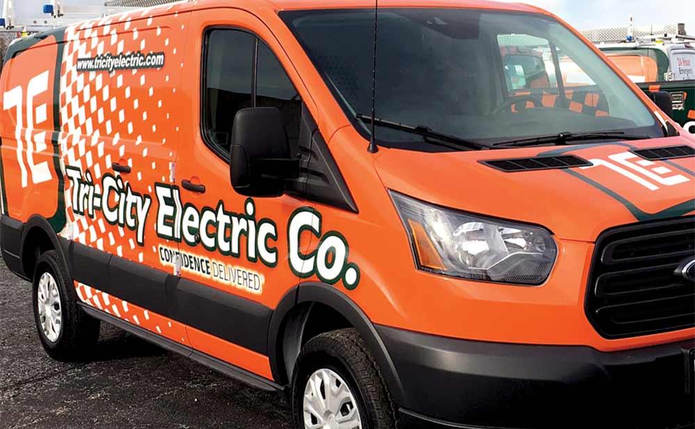Tri-City Electrical Services Van
