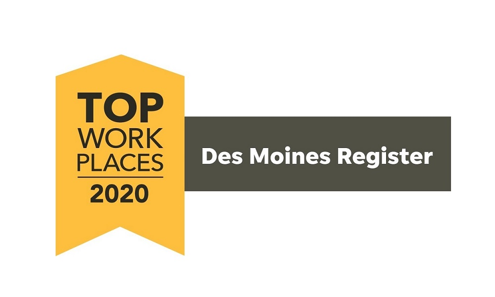 A winner of the Top Workplaces 2020 Award