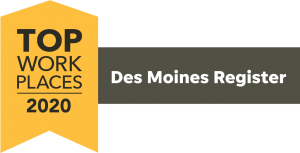 Des Moines Register Top Places to Work 2020